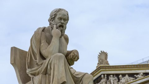 Marble Statue Of The Philosopher Socrates, Athens