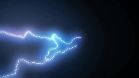 Set of different beautiful realistic lightning strikes and flashes on black background. 4K 3840x2160. See more  in my portfolio