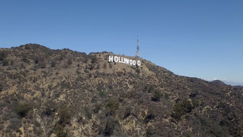 Los Angeles: Hollywood Sign (drone/aerial) | Shutterstock HD Video #1011106712