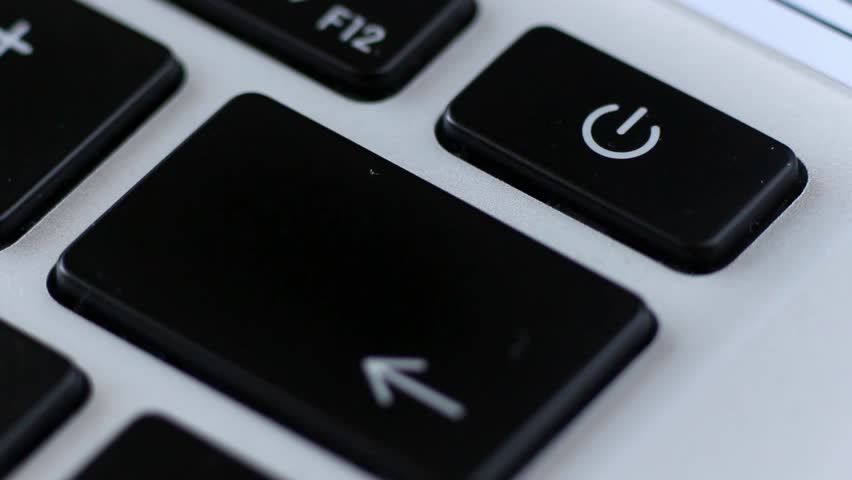Pressing Power Button To Turn On the Laptop | Shutterstock HD Video #1011189302