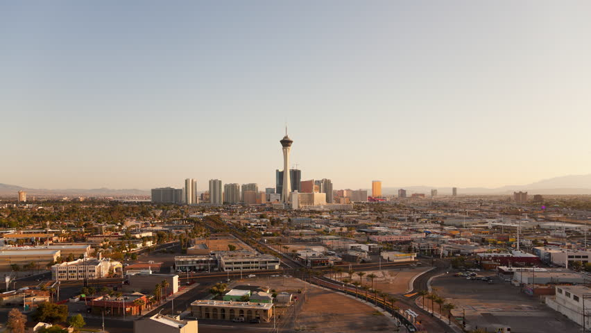 High Angle View of Las Vegas as Day Becomes Night | Shutterstock HD Video #1011196922