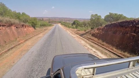 Panorma view from above the car in Madagascar