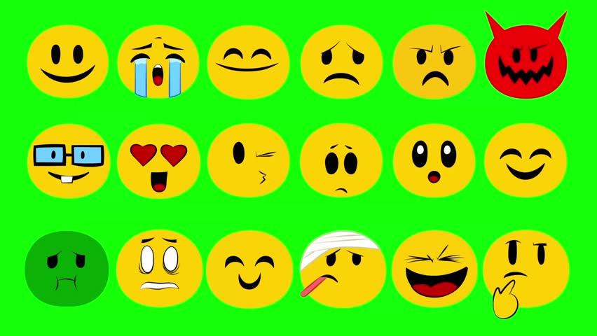 Emoji Full Set green