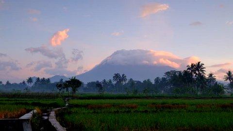 Mount Merapi. A few hours after a phreatic eruption.