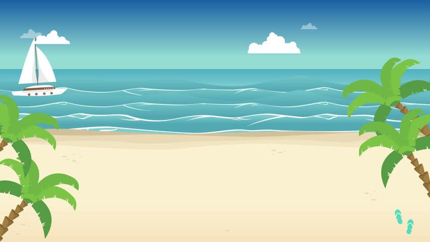 Мультипликационный Пляж
