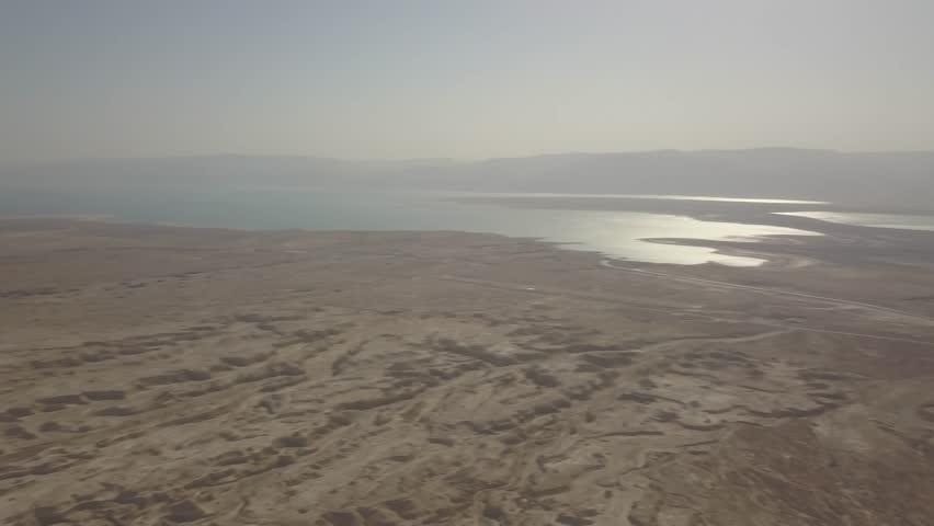 Dead sea desert 4k aerial view ungraded flat | Shutterstock HD Video #1011483152