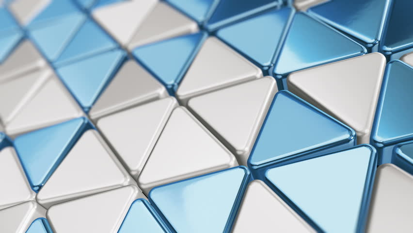Abstract background with animation of wave mosaic of metallic blocks. Technological backdrop. Animation of seamless loop. | Shutterstock HD Video #1011513482