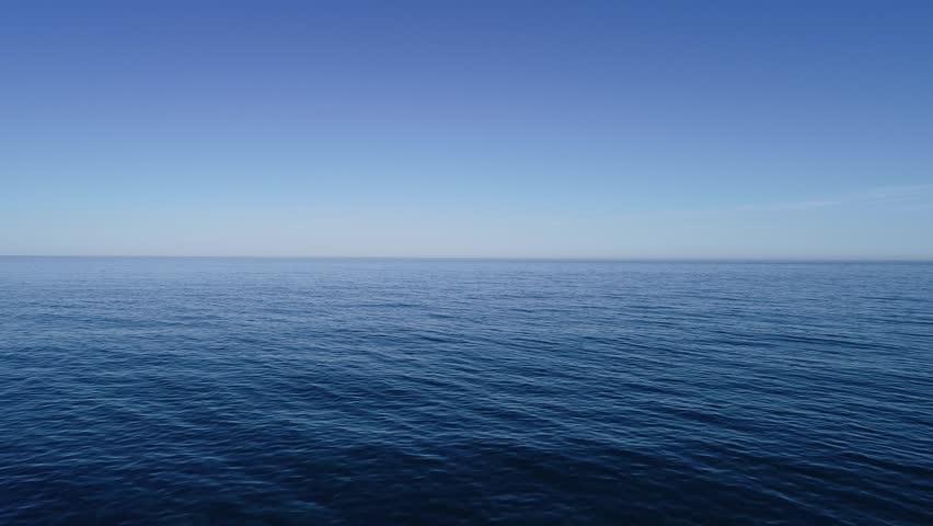 Infinite blue sea aerial