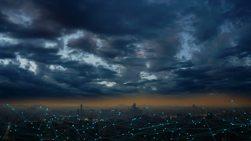 Internet connecting in the cities | Shutterstock HD Video #1011540092