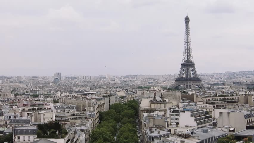 Eiffel Tower, view from Arc de Triomphe | Shutterstock HD Video #1011575162