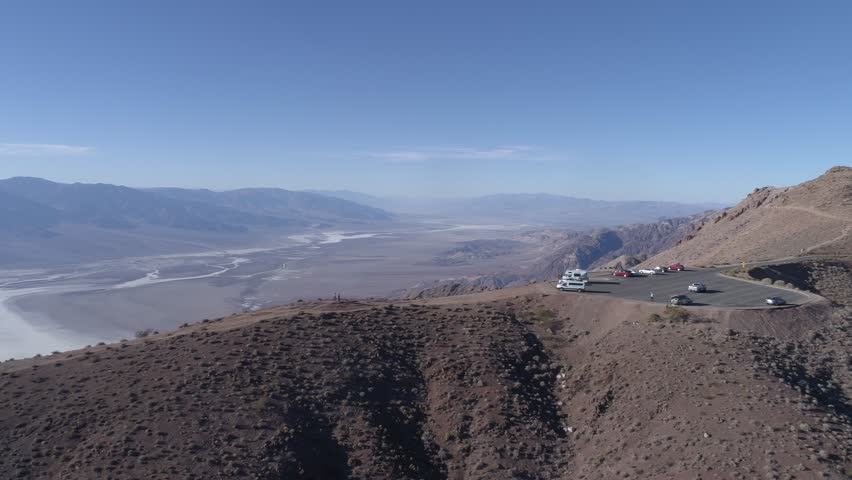 Dantes View Death Valley National Park camera rotating observation deck sunny 4K