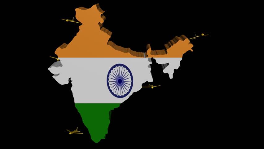 Planes Departing India Map Flag Stock Footage Video (100% Royalty-free) on brazil map, africa map, korea map, japan map, arabian sea map, karnataka map, sri lanka map, andhra pradesh map, time zone map, europe map, france map, canada map, california map, china map, indian subcontinent map, maharashtra map, russia map, texas map, australia map,