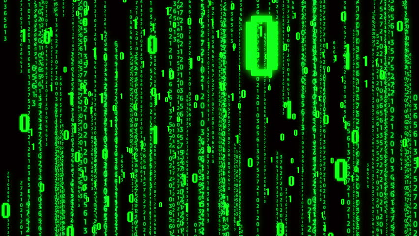 4k The Matrix style binary code,falling number,Seamless loop.abstract future tech background.data digital display.    Shutterstock HD Video #1011649472