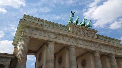 Famous landmark in Berlin - The Brandenburg Gate called Brandenburger Tor