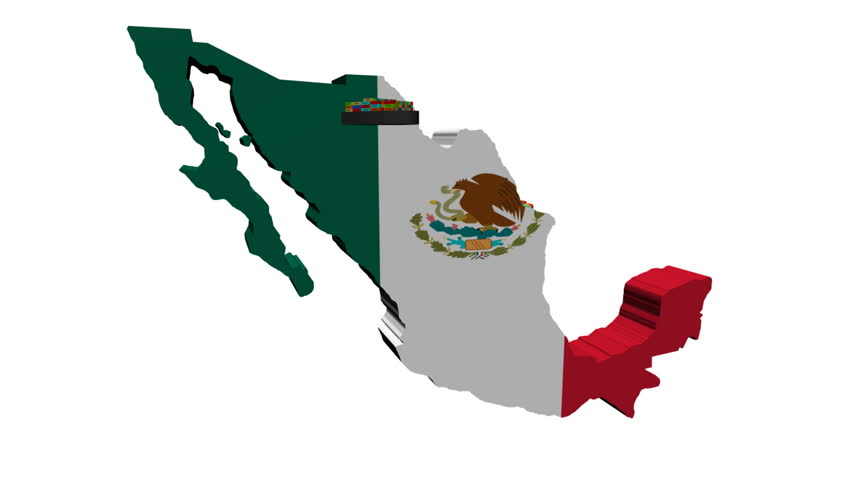Mexico Map Flag With Container Stock Footage Video 100 Royalty