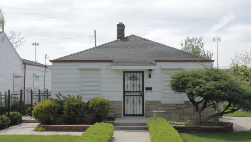 Gary, IN / USA - May 17th 2018: Michael Jackson's childhood home