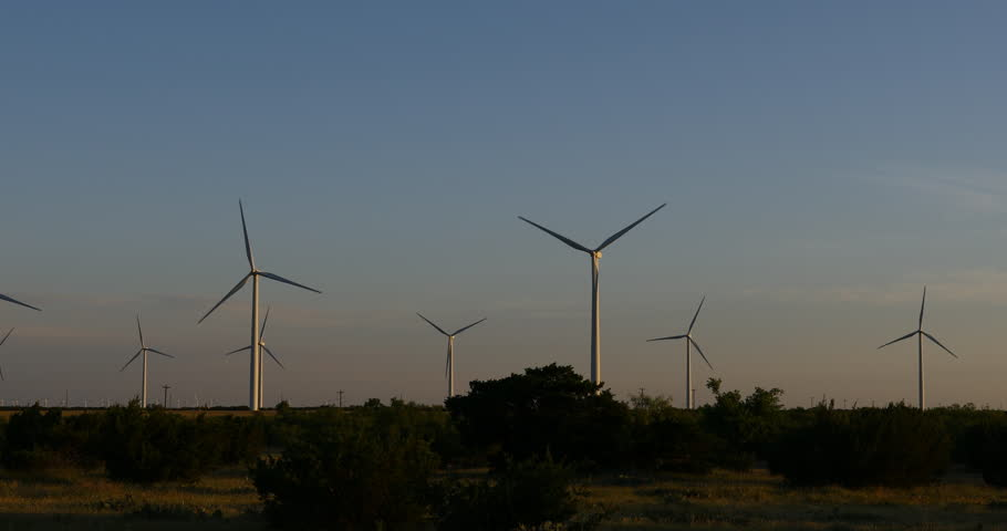 Wind Turbines near Bronte / Abilene Texas. | Shutterstock HD Video #1011759122