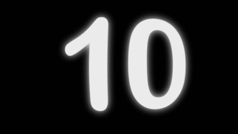 This numerical timer (Arial Rounded font) counts seconds from 0 to 10 to 0 again and has a transparent background (Quicktime Animation Codec). Freeze frames to display scores, points, amounts, etc