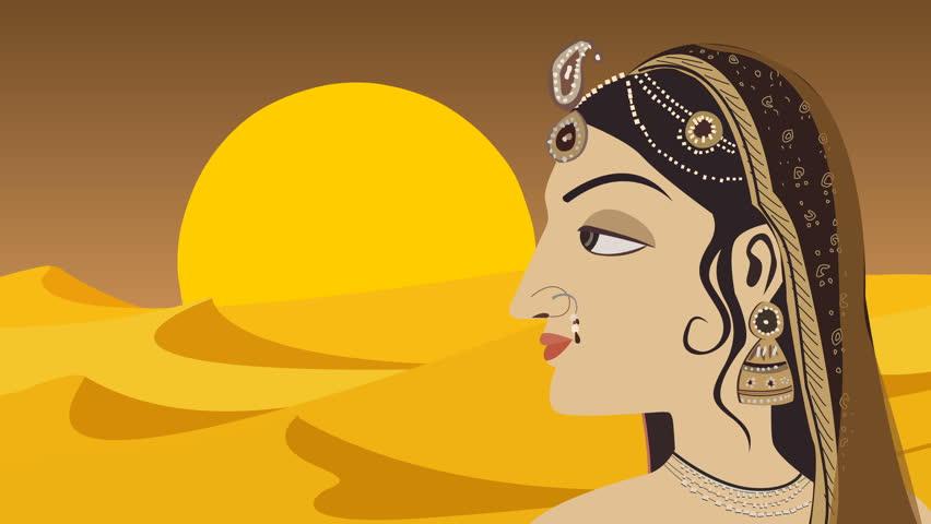 Traditional Indian Hindu Woman Rajasthani Style