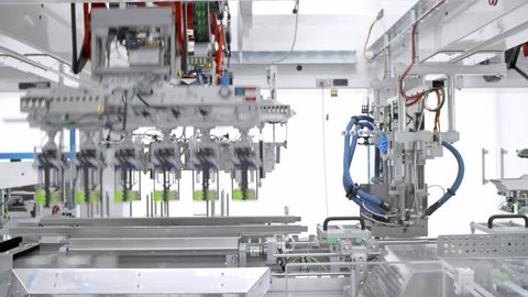 packaging process in food factory