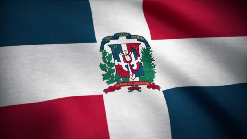Dominican Republic Flag. Flag of the Dominican Republic waving at wind