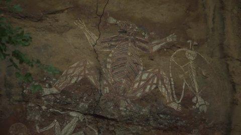 Indigenous Australian Paintings on Rock