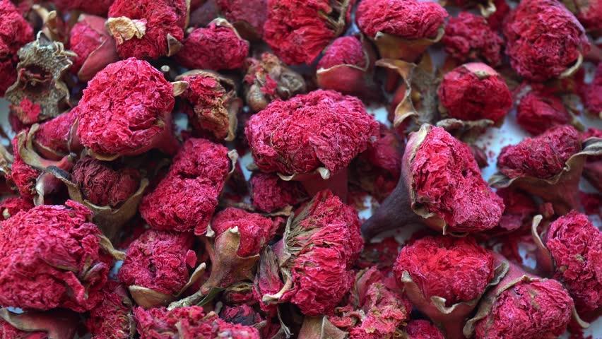 4k Rotation Flower Red Garnet Tea