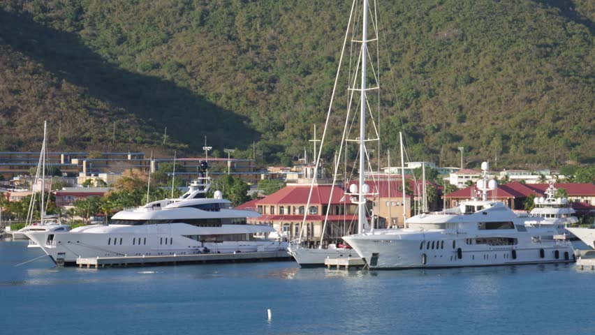 Moored Modern Yachts in the Stock Footage Video (100% Royalty-free)  1011981512 | Shutterstock