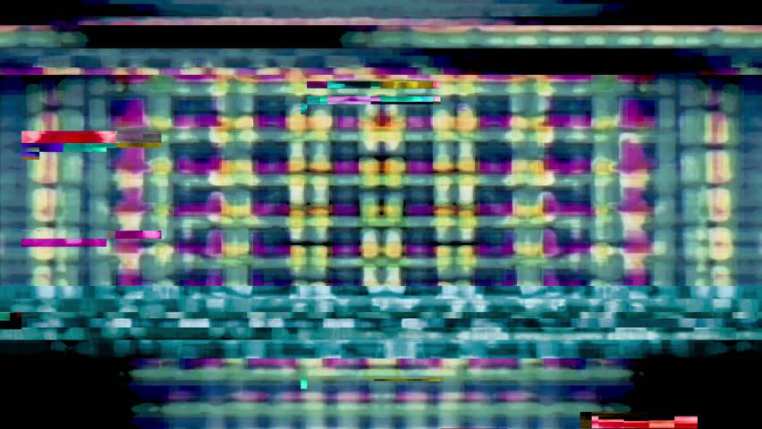 Digital video malfunction (Loop). | Shutterstock HD Video #1011991232