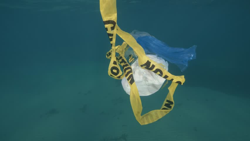Plastic in the Ocean and Sea | Shutterstock HD Video #1012010342