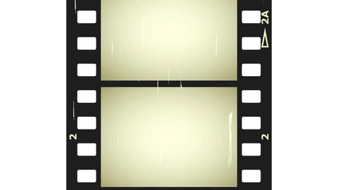 moving scratched film strip seamless loop