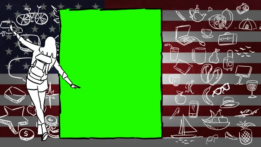 USA  hand drawn tourism | Shutterstock HD Video #1012042532