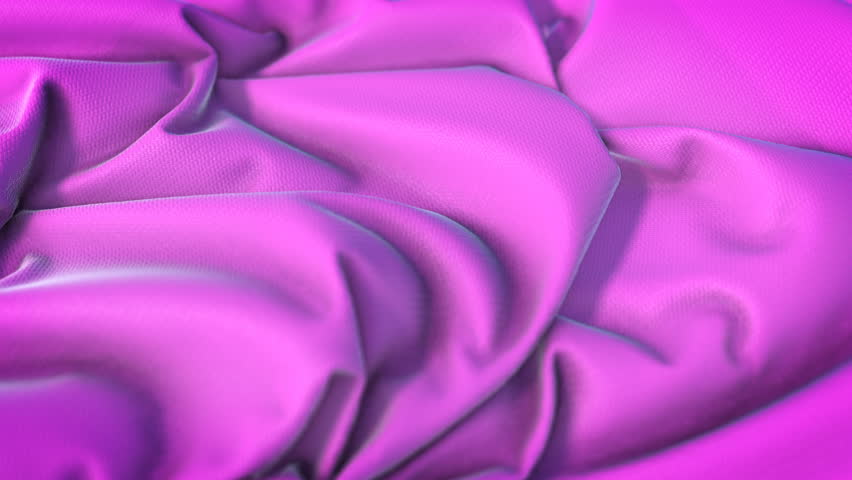 Pink magenta color fabric cloth textile background seamless looping 3D rendering
