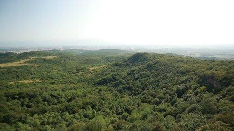 Kutaisi, Georgia. Panorama Of State Sataplia Reserve. Summer Landscape.