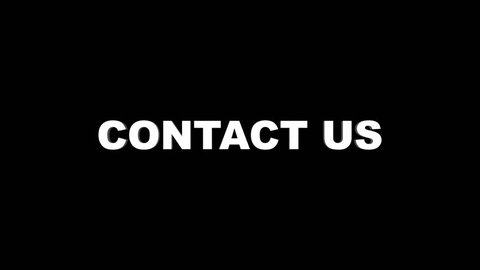 CONTACT US Glitch Text Animation, Rendering, Background, , Loop, 4k
