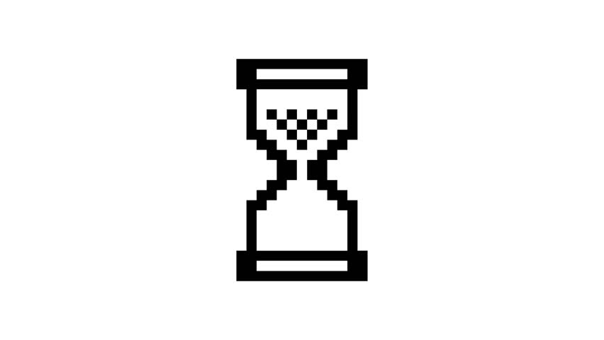 loading pixel hourglass cursor seamless loop