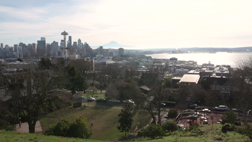 Seattle, Washington, downtown with the Space Needle shot in 4k high resolution