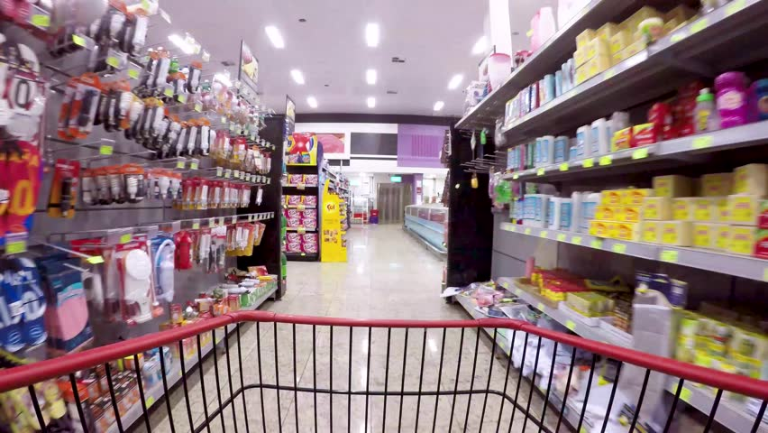 Supermarket shopping time lapse shopping trolley | Shutterstock HD Video #1012329122