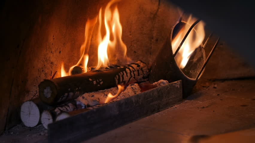 Slow motion fire from wooden coal. #1012410662