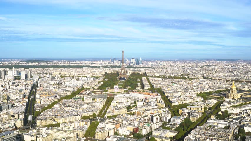 Eiffel Tower and Paris cityscape | Shutterstock HD Video #1012449122