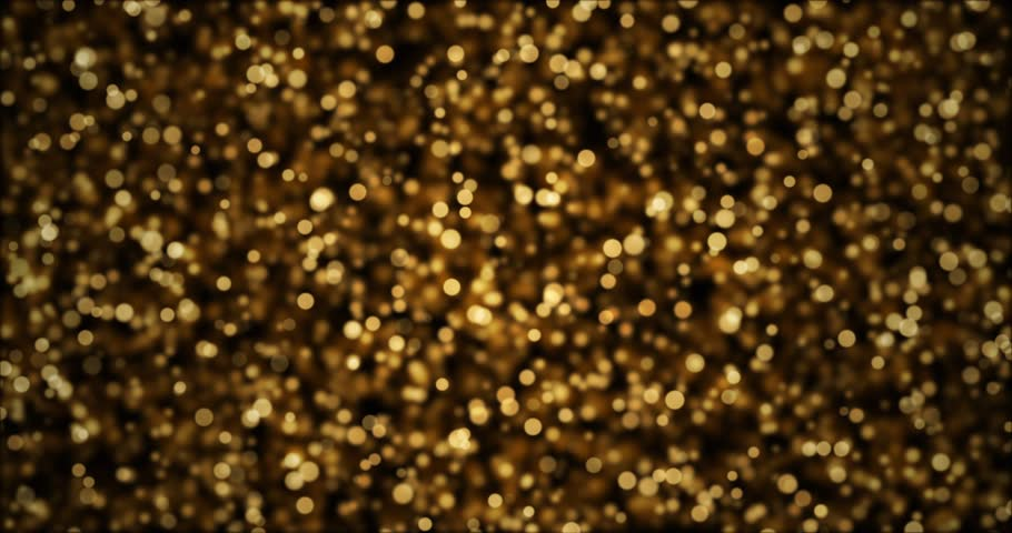 Flickering flying lights background. Gold and black glitter texture. Vintage bokeh motion graphics | Shutterstock HD Video #1012449152