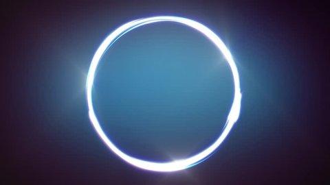 Abstract Circle Stroke Lines Animation/ Animation of abstract shining light strokes following circular ring motion path