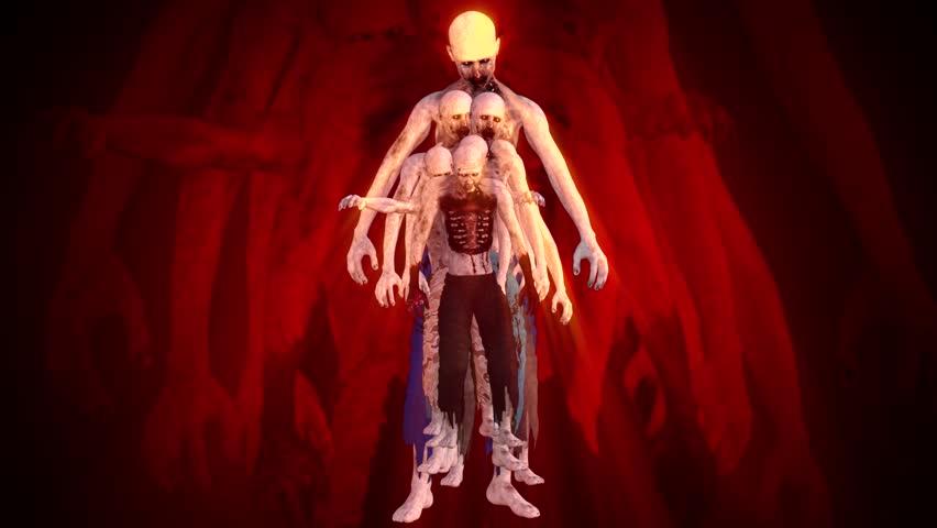 Zombies Surrealistic Concept | Shutterstock HD Video #1012492322