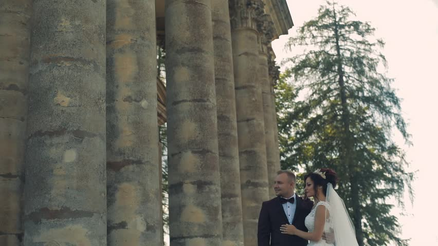 Lovely wedding couple standing together | Shutterstock HD Video #1012519082
