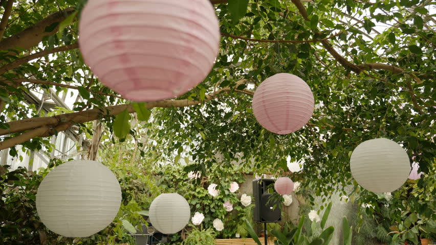Japanese paper lantern wedding decorations Footage #page 3 | Stock Clips