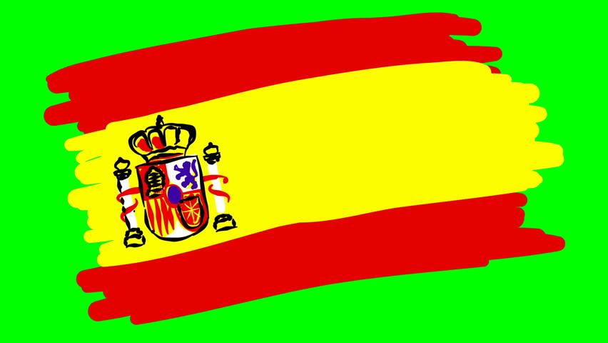 Spain drawing flag on green screen isolated | Shutterstock HD Video #1012570382