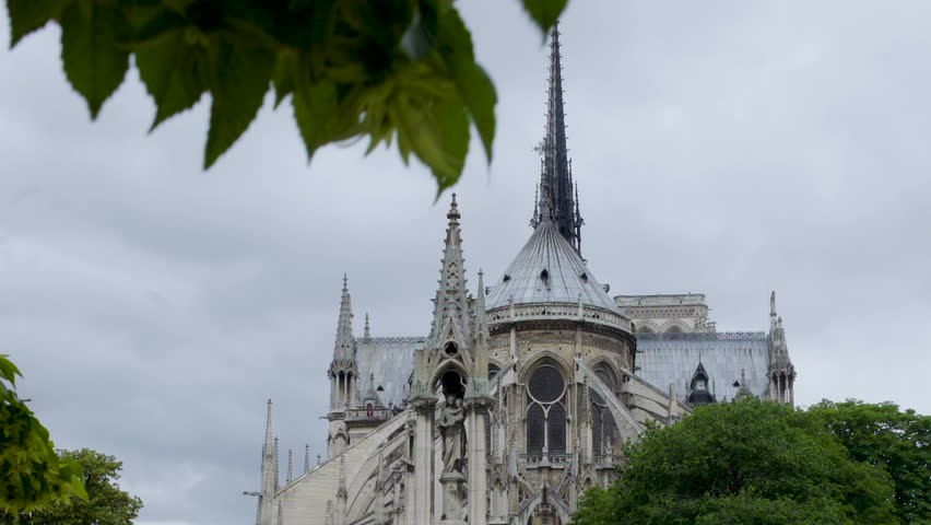 Notre-Dame cathedral in Paris, summer travel to France, sightseeing vacation | Shutterstock HD Video #1012663682