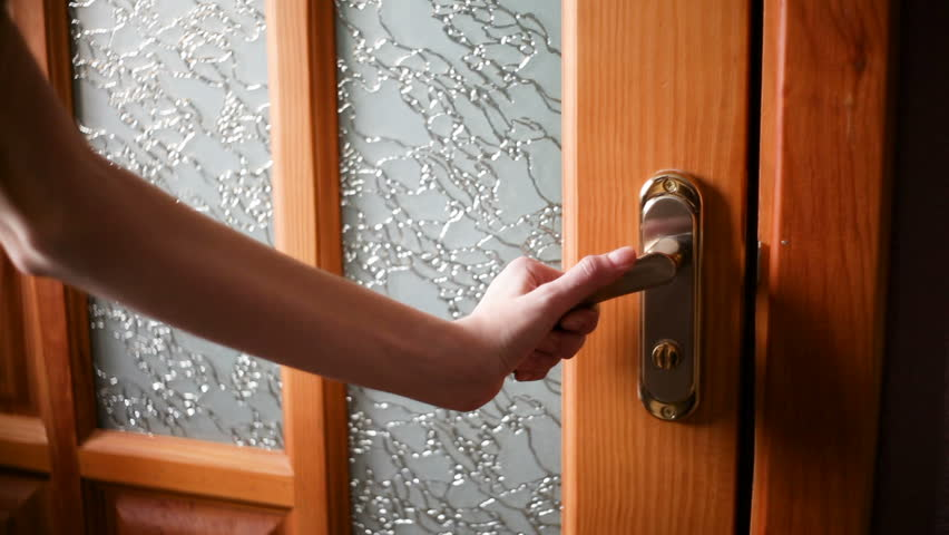 Women hand open door knob or opening the door | Shutterstock HD Video #1012664462