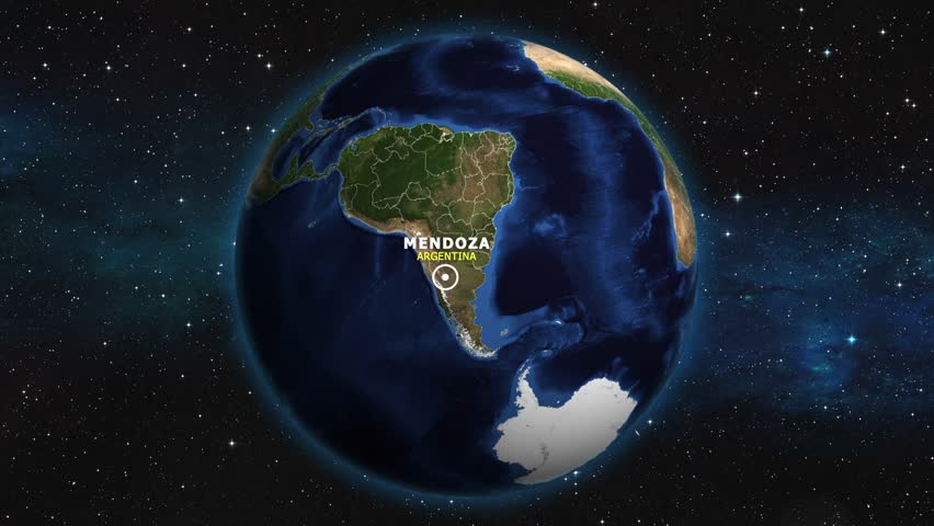 ARGENTINA MENDOZA ZOOM IN FROM SPACE | Shutterstock HD Video #1012734482