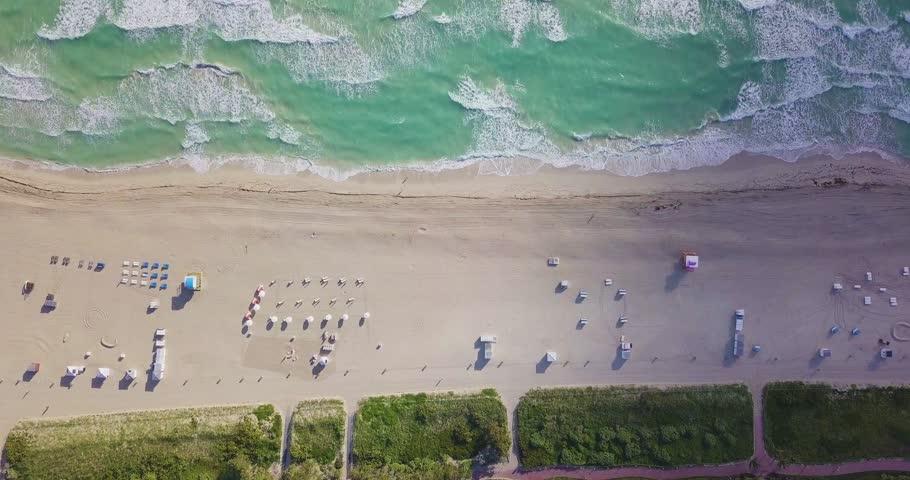 Drone shot in Miami Beach